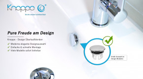 Design Überlaufblende, Mirror Chrom Edition